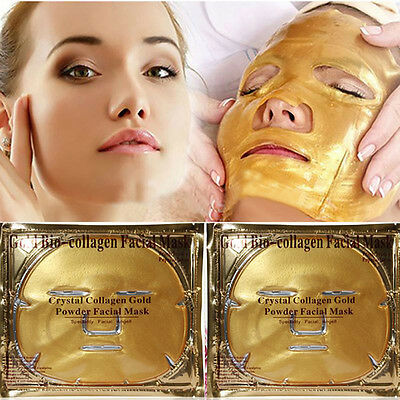 1/5/10Pcs Gold Collagen Crystal Face Masks Anti Ageing Skin Care Facial Mask New