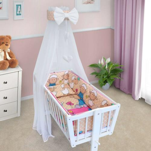 CRIB BEDDING SET CRADLE PILLOW DUVET CANOPY COVER BUMPER BABY NURSERY