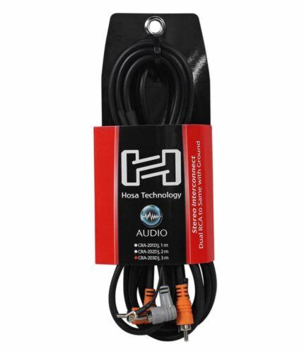 Hosa CRA-203DJ Dual RCA RCA Ground 10 Foot Cable
