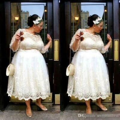 Plus Size Tea Length Wedding Dresses A