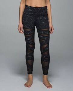 120fcce9341ab Lululemon High Times Pant Luon Tech Mesh Yoga Tights star crushed ...