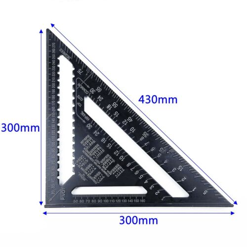 1x 30cm Metrisches System Dreieckiger Winkel Eckig Geschwindigkeit Rafter