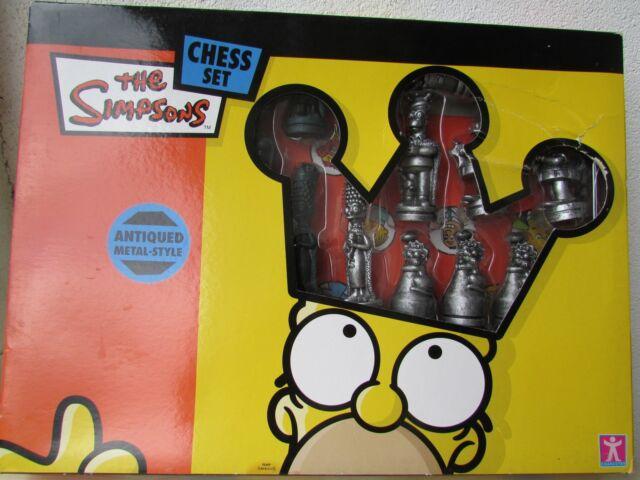 I Simpson set di scacchi. Antico Metal Style, inutilizzato.