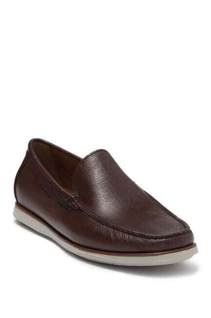 Mens Size 13 Kenneth Cole Cyrus Slip On Shoes Brown Leather Loafers KMF8029TL