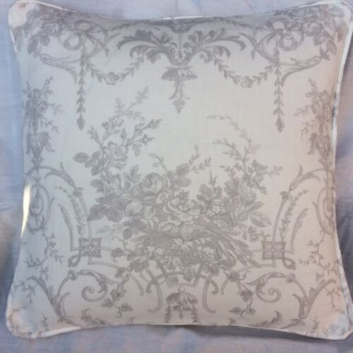 """Laura Ashley Tuileries Colombe Gris Tissu Housse De Coussin Piped 18/"""""""