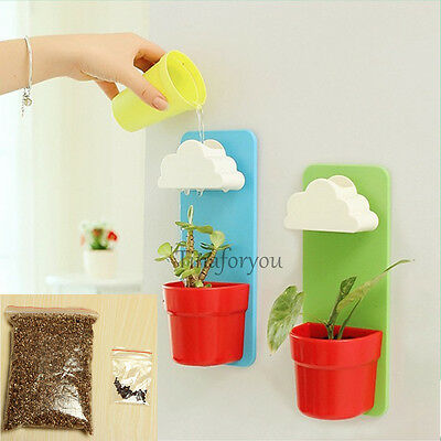 Creative Cloud Hanging Plant Flower Pot Planter Home Garden Balcony Decoration