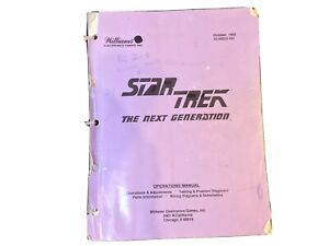 Pinball Operations And Schematics Manual For Williams Star Trek table