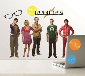The-Big-Bang-Theory-Cast-amp-Logos-Peel-amp-Stick-Wall-Stickers-Decals-Appliques-NEW