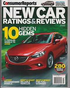 consumer reports new car ratings reviews 2013 10 5 popular models to avoid ebay. Black Bedroom Furniture Sets. Home Design Ideas