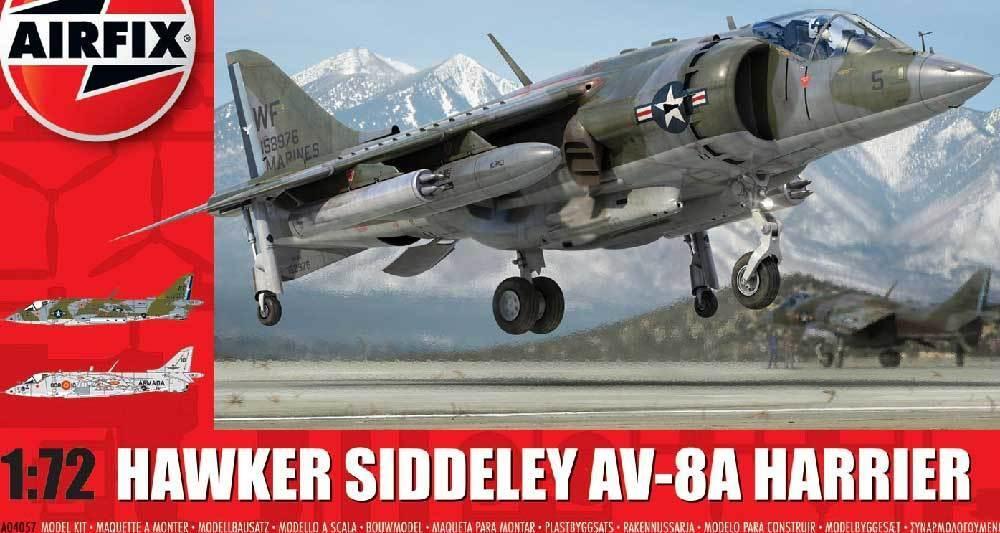 Airfix - Hawker Siddeley Sapphire Harrier Av -8a  8S 1986 & 1982 - 1 72
