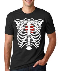 SKELETON RIB CAGE heart bones skull Halloween costume xray ...