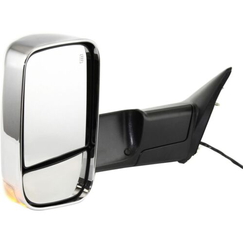 New Set of 2 Chrome Heated Towing Mirror w//Puddle Light for Dodge Ram Pair 09-12