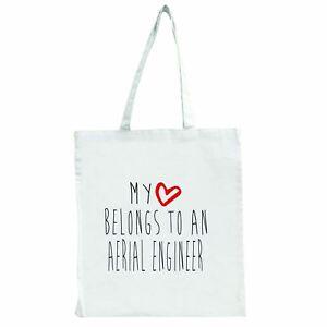 My Heart Belongs To An Vue Aérienne Engineer - Grand Sac Shopping Fourre-tout Veypdmpp-08002928-428109421