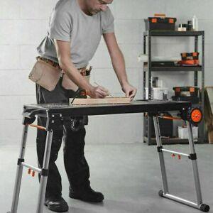 Heavy Duty Folding Metal Workbench Portable Mobile ...