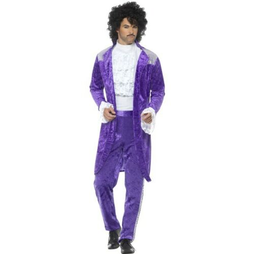 80s Pop Star New Romantic Fancy Dress Purple Adam Ant Prince Boy George
