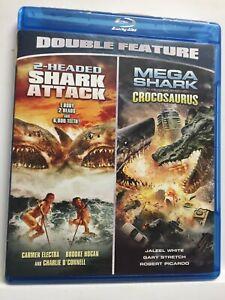 2-Headed Shark Attack/Mega Shark Vs. Crocosaurus (Blu-ray,2013) NEW! no shrinkwr