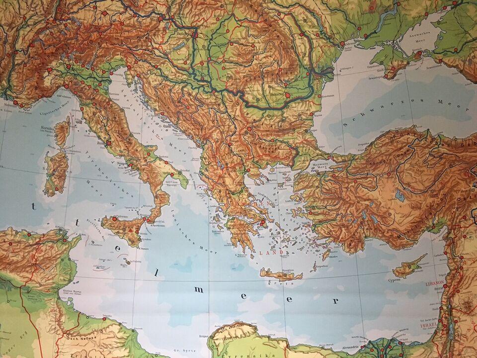 Skolekort, Middelhavslandene + orienten, motiv:
