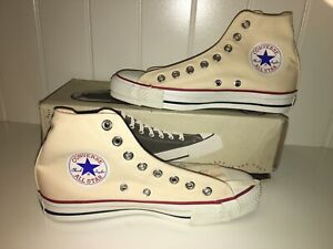 Details about NIB VINTAGE CONVERSE MADE IN USA HI ALL STAR CHUCK TAYLOR UNBLEACHED 6.5