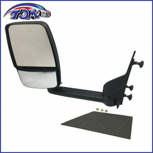 BRAND NEW MANUAL MIRROR FOR 03-17 CHEVROLET EXPRESS 3500 LEFT FOLDING