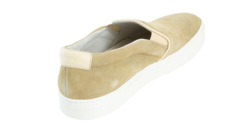 J.Lindeberg Uomo Beige Non Stringato Italiana scarpe da ginnastica ginnastica ginnastica in pelle Scamosciata e60c07