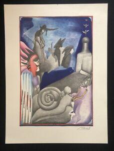 PIT-Morell-lumache-corridoio-farblithographie-1969-a-mano-firmata-e-datata