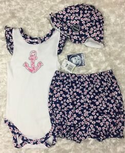 33492dc7adbd Gerber Baby Girl 3 piece set T Shirt bloomers and hat Size 18 month ...