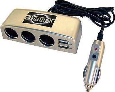 Multi port Cigerette Lighter Adapter USB Car Truck Automobile Laptop Charger