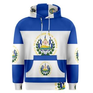 New-El-Salvador-flag-for-Men-039-s-Pullover-Hoodie-S-M-L-XL-2XL-3XL-Free-Shipping
