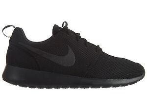 5a1062ee5892 Nike Roshe One Mens 511881-026 Triple Black Mesh Athletic Running ...