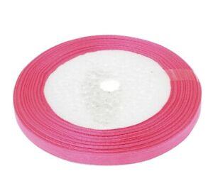 20m-Doppel-Satinband-6mm-Rosa-Pink-Schleifenband-Geschenkband-Dekoband-C262