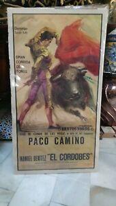 Anos-70-Cartel-Gran-Corrida-De-Toros-Paco-Camino-Y-Manuel-Benitez-El-Cordobes