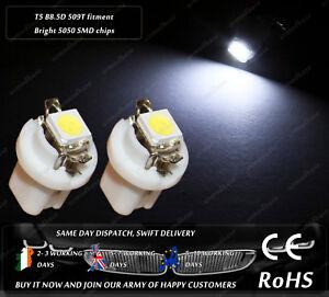 LED-SMD-T5-Cap-B8-5D-509T-White-Dashboard-Cluster-Speedo-Instrument-Light-Bulbs