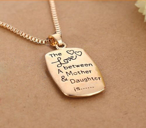 """Wholesale Mom Daughter Necklace """"The Love between A Mother & Daughter is ..."""""""