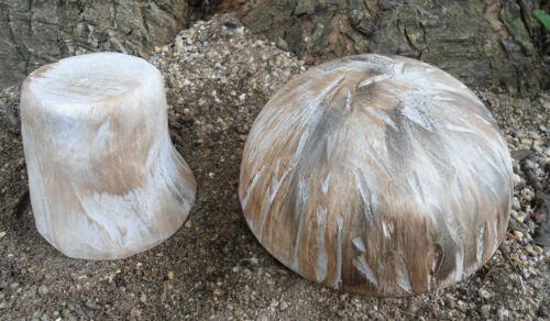 Poly plastic 2 piece mushroom mold plaster concrete mould