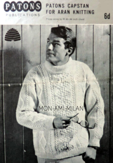 Hayfield Mens Sweater Knitting Pattern 9399 Aran