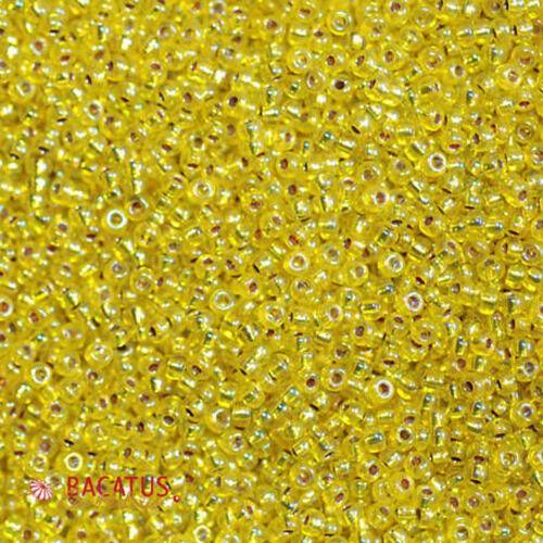 Miyuki rocaille 11//0 Rond 2 mm Jaune//Crème//LEMON environ 9,9 g = 1 tubes