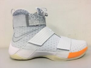 best loved bdf5b 2e454 Details about Nike Lebron Soldier 10 ID John Elliott White Orange NYC  885682-100 Mens Size 14
