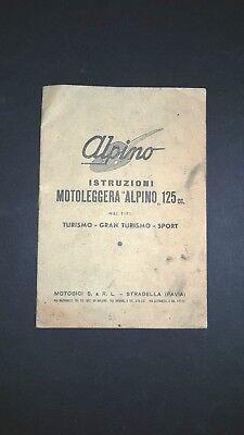 Alpino 125 Manuale Libretto Uso Manutenzione Originale Moto Anni '50