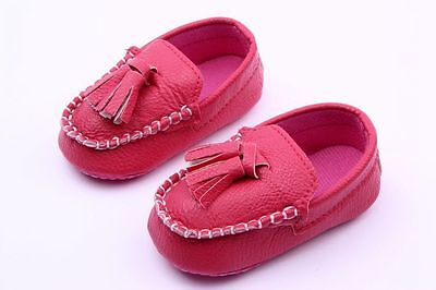 NEW Infant Baby Boy Girl Moccasins Loafer Shoes 3-18 months pink cream