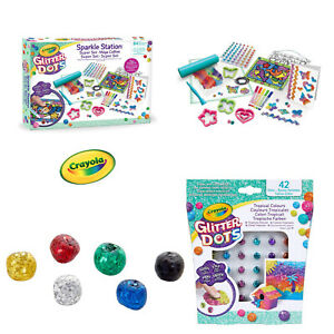 Crayola-Kids-Mouldable-Glitter-Dots-Assortments-OR-Sparkle-Station-Creative-Art