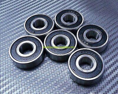 "R3-2RS 5 PCS Rubber Sealed Ball Bearing 3//16/"" x 1//2/"" x 0.1960/"" R3RS BLACK"