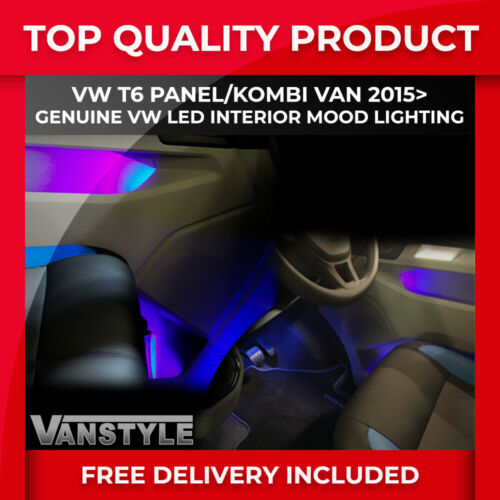 VW T6 2015/> GENUINE VW INTERIOR LED MOOD LIGHTING KIT FOOT WELL /& DOOR LIGHTS