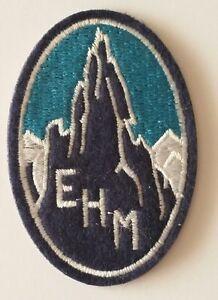Ecusson-brode-de-l-039-EHM-ecole-de-haute-montagne-Chamonix-cree-en-1932-REPRO