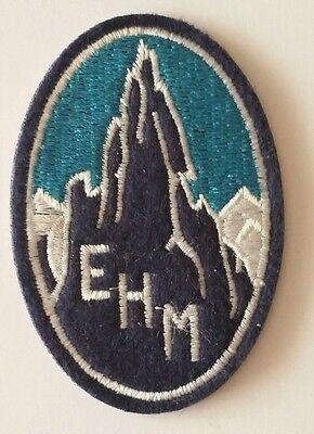 Ecusson Brodé De L'ehm école De Haute Montagne Chamonix Crée En 1932 - Repro Meno Caro