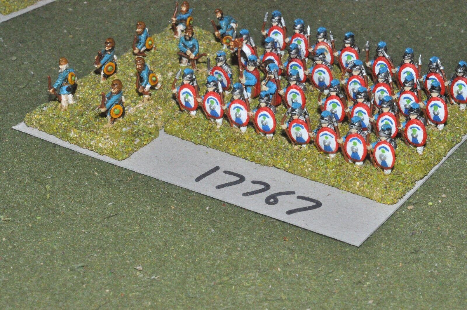15mm roman era   roman - late legionaries 40 figs - inf (17767)
