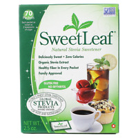 Stevia Sweetener, 70 Count, Sweetleaf Natural, No Calories Or Carbs