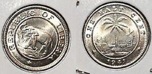 LIBERIA-1941-1-2-CENT-AFRICAN-ELEPHANT-COIN-CH-GEM-UNCIRCULATED