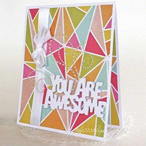 Awesome special Words Cutting Dies Stencil Scrapbook Album Embossing Card Making
