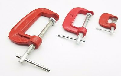 BRAND NEW. HEAVY DUTY G CLAMPS 75mm 3 INCH - 2 pc SET- CAST IRON
