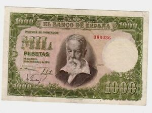 Spagna-Spain-1000-1-000-pesetas-1951-BB-VG-Pick-143-lotto-136